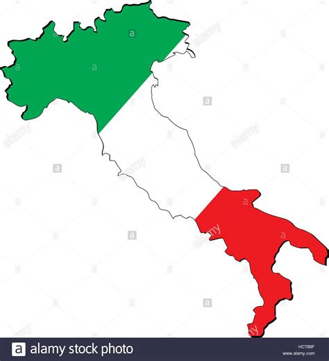 italy map flag stock vector high resolution italy map with country flag flag of the ital