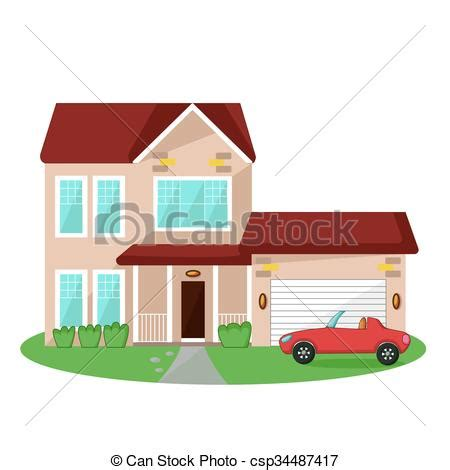 casa clipart casa aislado icono coche garaje aislado icono casa