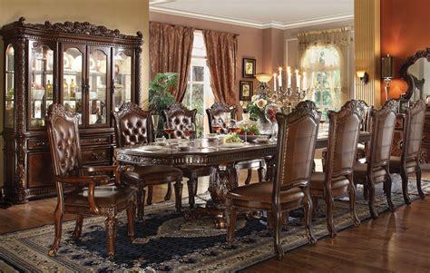 vendome pc formal double pedestal  dining table set