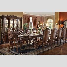 "Vendome 5pc Formal Double Pedestal 136"" Dining Table Set"