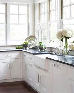 types of kitchen cabinets photos of white cabinets with black countertops 6445