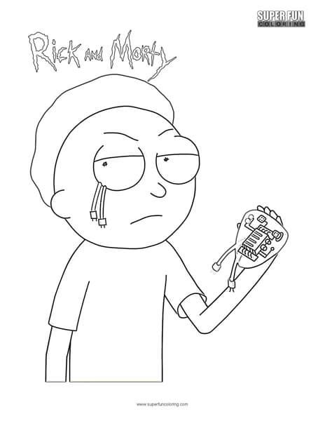 evil morty rick  morty coloring page super fun coloring