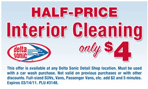 delta sonic interior cleaning delta sonic coupons get a free or free 10