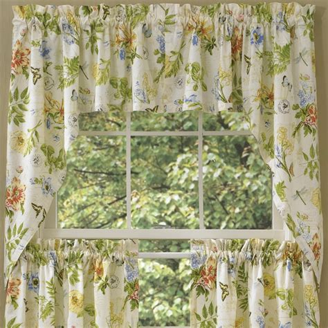 window curtains garden botanical garden window curtain swag 72 quot x 36 quot