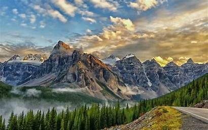 Desktop Mountain Backgrounds Landscape Range Mountains Wallpapers
