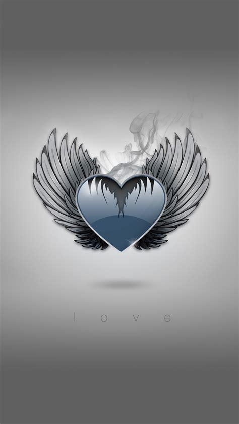 heart  wings iphone wallpaper