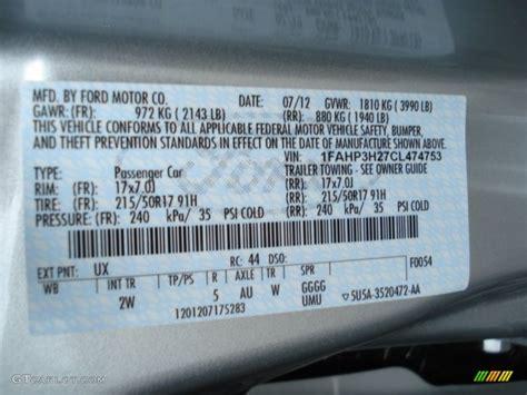 2012 ford focus sel sedan color code photos gtcarlot