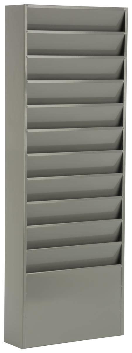 wall hanging file organizer gray powder coated finish