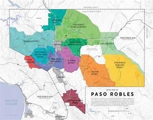 Wine Map Of Paso Robles De Long