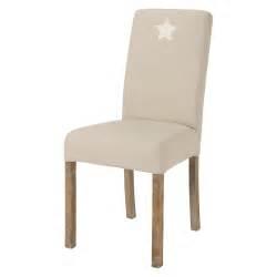 housse de chaise 233 toile en coton beige margaux maisons du monde