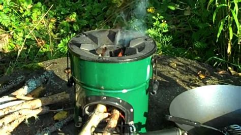 outdoor propane burner wok cooking with the rocket stove