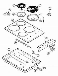 Magic Chef Cec1430aab Electric Cooktop Parts