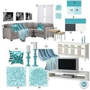 turquoise and gray living room i like the turquoise but
