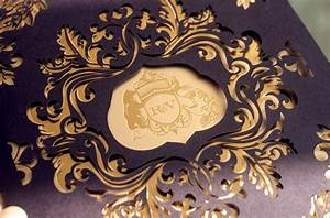 rebecca varun39s lasercut and gold foil wedding invitations With laser cut wedding invitations online india