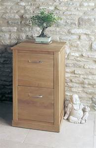 Buy Baumhaus Mobel Oak 2 Drawer Filing Cabinet Online CFS UK