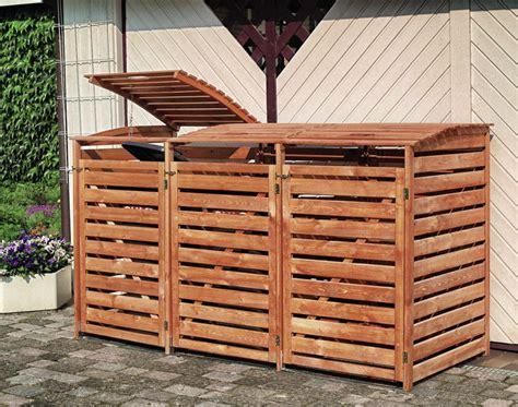mülltonnenbox holz 3 tonnen holz sichtschutz promadino 171 vario iii