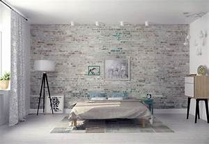 Brique De Parement Blanche : 30 id es pour d corer les murs de votre chambre chambre pinterest chambre decoration et deco ~ Nature-et-papiers.com Idées de Décoration