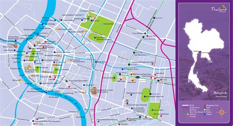 map  districts  bangkok russian attractions transport