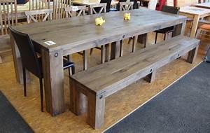 Eiche Massiv Tisch : g nstige m bel online bestellen rittertafel massivholztisch mit bank eiche massiv altholz ~ Eleganceandgraceweddings.com Haus und Dekorationen