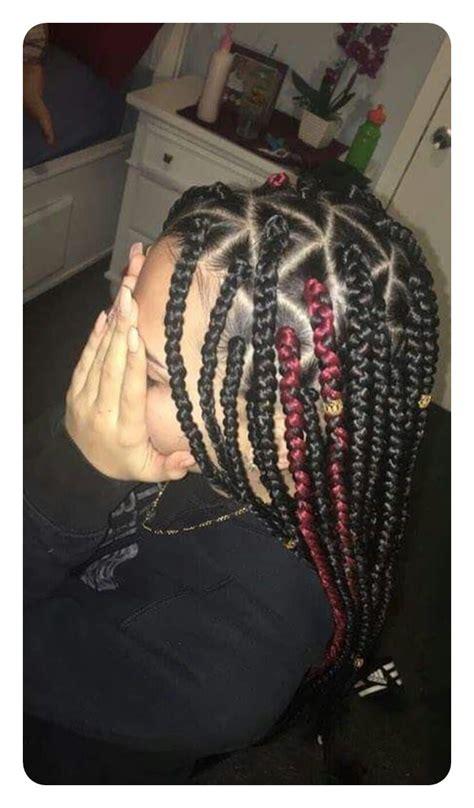 cool triangle box braids    convenient
