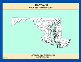 Maryland State Counties Map