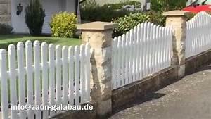 Zaun Weiß Holz : zaunbau galabau sonderausf hrung sachsenbogen aluminium zaun wei youtube ~ Sanjose-hotels-ca.com Haus und Dekorationen