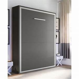 Lit Escamotable Armoire : armoire lit joy escamotable 2 places 140 x 200 pieds ~ Premium-room.com Idées de Décoration