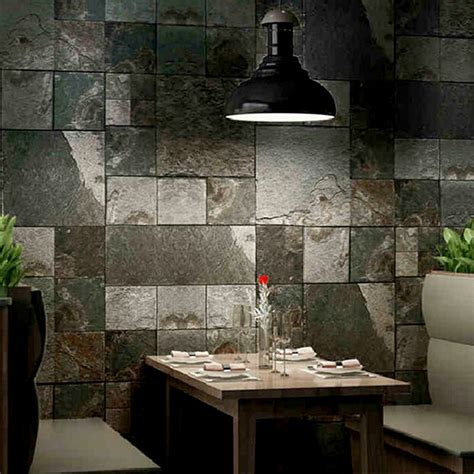home decor 3d effect wall tile textured roll vinyl faux