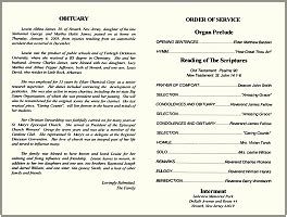 funeral order of service template obituary order of service apa exle