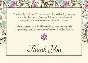 thank you note card template best professional templates With sympathy thank you cards templates