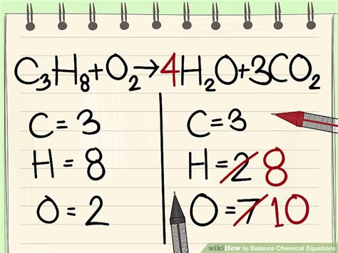 How To Balance Chemical Equations 11 Steps (with Pictures