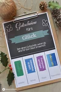 Selbstgemachte Gutscheine Für Freund : gutscheine f rs gl ck zum ausdrucken download free printable basteln geschenke geschenke ~ Eleganceandgraceweddings.com Haus und Dekorationen
