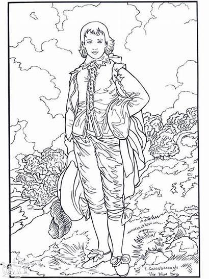 Coloring Pages Printable Gainsborough Famous Painter Books