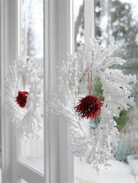 christmas wreaths for windows 7 festive decorations to hang in your windows for the holidays