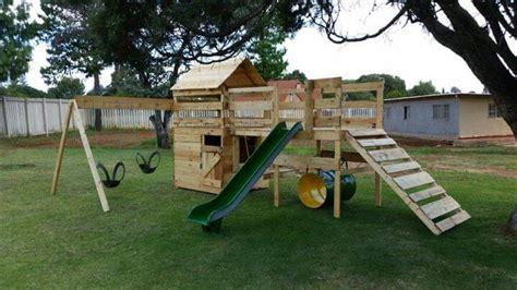 diy reclaimed pallet jungle gym pallet playhouse
