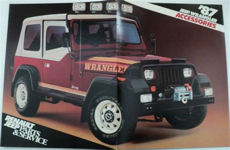 renault jeep 1987 jeep wrangler accessories brochure by renault jeep
