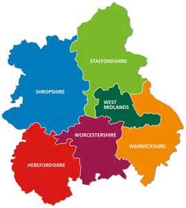 West Midlands England Map