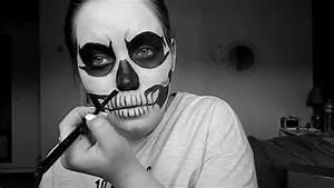 Maquillage Squelette Facile : tuto holloween 1 squelette youtube ~ Dode.kayakingforconservation.com Idées de Décoration