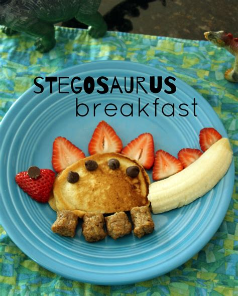silly kid friendly stegosaurus breakfast   takes