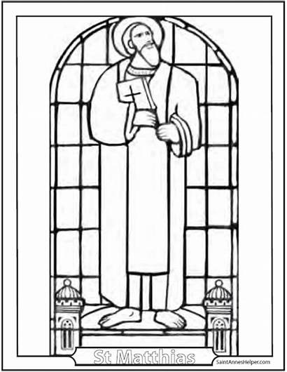 Coloring Pages Creed Apostles Saint Catholic Stained