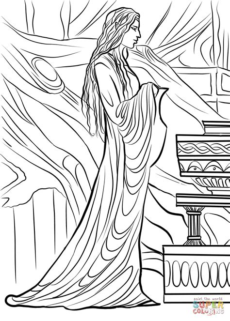 lothlorien coloring page  printable coloring pages