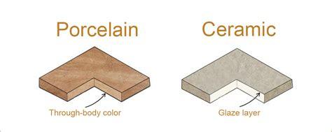 difference between ceramic and porcelain tile porcelain vs ceramic tile what s best for flooring