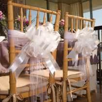 wedding chair bows bulk wedding idea tulle ribbon bow chair decorations at dollartree