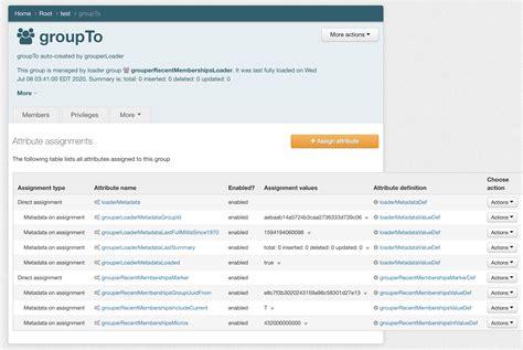 internet2 recent loader configuration efficient query attributes structures order