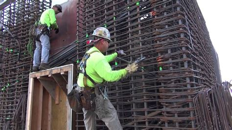 high rise building core rebar post tension slabs youtube