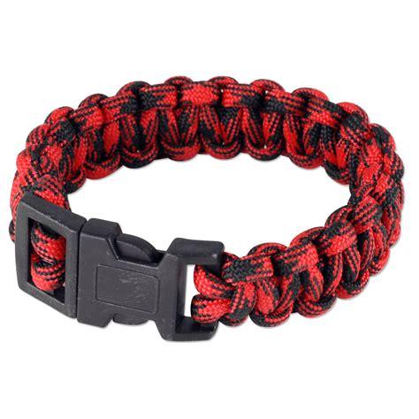 camo mix paracord bracelet  redblack  pc