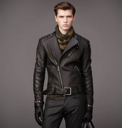 Men Wearing Leather Motorcycle Jackets