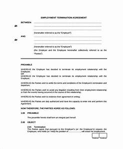 sample employment termination agreement templates 5 With termination of employment contract template