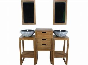 soldes vente unique ensemble de salle de bain kyoto en With ensemble salle de bain teck