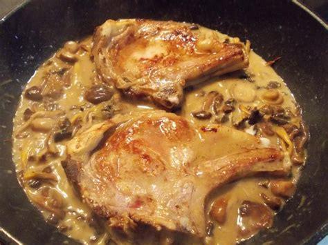 cuisiner une cote de veau côtes de veau aux chignons entre prés et chs